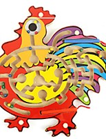 cheap -Magnet Toys Magnetic Maze Stress Relievers Toys Flat Shape Chicken Sports Friends School Wood Kids Pieces