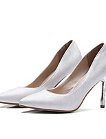 Women's Shoes Leatherette Spring Summer Basic Pump Heels Stiletto Heel Pointed Toe for Office & Career Dress Light Blue Light Grey Light