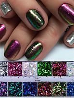 economico -1set Brillante e glitterato Con lustrini Glitter per unghie Con lustrini Polvere di glitter Glitter per unghie Come nell'immagine Nail