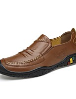 cheap -Men's Shoes Real Leather Cowhide Nappa Leather Spring Fall Driving Shoes Comfort Loafers & Slip-Ons for Casual Office & Career Dark Brown