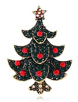 cheap -Women's Brooches Rhinestone Metallic Fashion European Alloy Tree of Life Jewelry For Christmas Gift