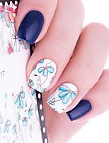Недорогие -1 Цветы Наклейка для ногтей Разные цвета Украшение для дизайна ногтей
