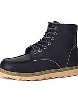 Недорогие -Для мужчин обувь Кожа Зима Осень Удобная обувь Армейские ботинки Ботинки Ботинки для Повседневные Черный Коричневый Вино