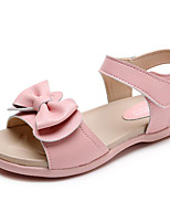 cheap -Girls' Shoes Cowhide Winter Fall Comfort Sandals for Casual Light Pink Pink Beige White