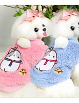 Chien Gilet Vêtements pour Chien Décontracté / Quotidien Dessin-Animé Bleu Rose Costume Pour les animaux domestiques