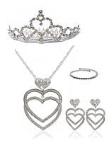 economico -Per donna Collane con ciondolo I monili nuziali Strass Europeo Di tendenza Matrimonio Feste Diamanti d'imitazione Lega Cuori Gioielli per