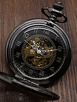 cheap -Kid's Couple's Casual Watch Skeleton Watch Pocket Watch Chinese Quartz Hollow Engraving Casual Watch Alloy Band Luxury Casual Skull Black