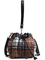 cheap -Women Bags PU Velvet Shoulder Bag Pattern / Print Sashes/ Ribbons for Outdoor Office & Career All Season Brown Red Black Blue