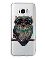 abordables -Coque Pour Samsung Galaxy S8 Plus S8 IMD Motif Coque Arrière Chouette Brillant Flexible TPU pour S8 Plus S8 S7 edge S7