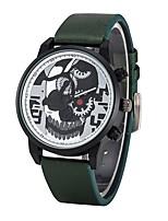 abordables -Hombre Niños Reloj Deportivo Reloj de Moda Reloj creativo único Chino Cuarzo Cronógrafo Resistente al Agua Calavera Reloj Casual Piel