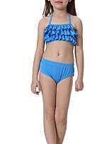 cheap -The Little Mermaid Swimwear Kid Halloween Festival / Holiday Halloween Costumes Green Light Purple Yellow Cyan Brown Mermaid