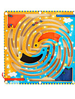 cheap -Wooden Puzzles Magnetic Maze Toys Flat Shape Animal Stress and Anxiety Relief Decompression Toys Classic Wooden Kids Adults' 1 Pieces