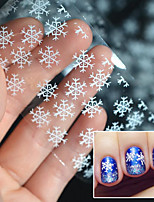 cheap -5 Nail Decals Christmas Nail Sticker As Picture (color may vary by monitor) Transparent Nail Decoration