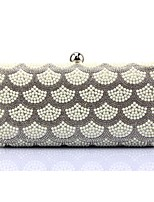 cheap -Women Bags Silk Evening Bag Pearl Detailing for Event/Party All Season Silver Gold