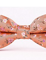 cheap -Men's Polyester Bow Tie,Work Casual Flower All Seasons Orange Blue