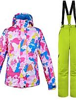 cheap -Women's Ski Jacket with Pants Warm Ventilation Windproof Wearable water-resistant Ski / Snowboard Multisport Snowshoeing Winter Sports