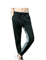 economico -Da donna Pantaloni da corsa Fitness, Running & Yoga Pantalone/Sovrapantaloni Yoga Corsa Esercizi di fitness Rayon Poliestere Largo Nero S