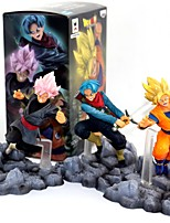cheap -Anime Action Figures Inspired by Dragon Ball Goku PVC 10 CM Model Toys Doll Toy
