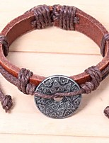 cheap -Men's Bracelet , Asian Classic Ethnic Leather Alloy Circle Line Sun Jewelry Ceremony Carnival