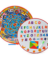 cheap -Wooden Puzzles Maze Magnetic Maze Maze Toys Round Novelty Classic Theme Stress and Anxiety Relief Furnishing Articles Decompression Toys