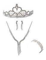 cheap -Women's Headwear Bridal Jewelry Sets Rhinestone Fashion European Wedding Party Imitation Diamond Alloy Line Body Jewelry 1 Necklace 1