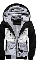 cheap -Men's Petite Others Simple Hoodie Print Hooded Hoodies Micro-elastic Polyester Long Sleeves Winter