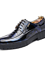 cheap -Men's Shoes Leatherette Spring Fall Novelty Oxfords for Casual Blue Red Black