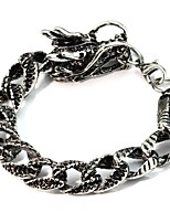 cheap -Men's Chain Bracelet , Asian Vintage Ethnic Alloy Dragon Jewelry Daily Festival