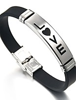 cheap -Men's Link Bracelet , Vintage Sweet Stainless Steel Leather Princess Heart Jewelry For Valentine Date