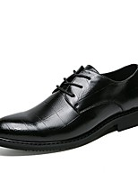 cheap -Men's Shoes PU Spring Fall Formal Shoes Comfort Oxfords for Office & Career Party & Evening Brown Black