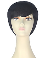 cheap -Women Synthetic Wig Short Straight Black Lolita Wig Party Wig Halloween Wig Carnival Wig Cosplay Wig Natural Wigs Costume Wig