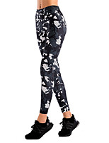 cheap -Women's Printing Cotton Acrylic Thin Print Legging,Print Black