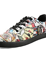cheap -Men's Shoes PU Spring Fall Comfort Sneakers for Casual Black/White Green Red