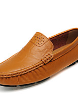 cheap -Men's Shoes Nappa Leather Winter Fall Moccasin Loafers & Slip-Ons for Casual Party & Evening Brown Black
