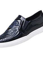 cheap -Men's Shoes Leather Spring Fall Comfort Loafers & Slip-Ons for Casual Blue Black White