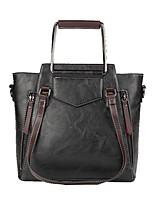 cheap -Women Bags PU Shoulder Bag Zipper for Casual Office & Career All Season Brown Gray Blushing Pink Red Black