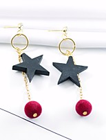 cheap -Women's Drop Earrings Fashion Oversized Wooden Alloy Star Jewelry Party Daily