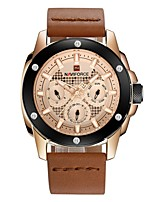 cheap -Men's Fashion Watch Dress Watch Wrist watch Swiss Quartz Calendar / date / day Chronograph Water Resistant / Water Proof Casual Watch