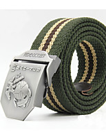cheap -Unisex Fabric Alloy Waist Belt,Light gray Army Green Beige Black Brown Work Casual