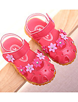 cheap -Girls' Shoes Leatherette Winter Fall Comfort First Walkers Sandals for Casual Pink Peach White