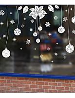 economico -Art decò Natale Capodanno Adesivo per finestre,PVC / Vinile Materiale decorazione della finestra