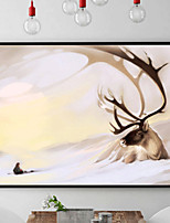 cheap -Animal Abstract Oil Painting Wall Art,PS Material With Frame For Home Decoration Frame Art Dining Room Bedroom