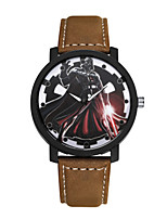 cheap -Men's Women's Casual Watch Fashion Watch Wrist watch Chinese Quartz Casual Watch PU Band Casual Elegant Black Brown