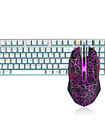 cheap -Dareu   Wired  Mechanical keyboard   Mouse black Switches  1.8m seven key 6000DPI