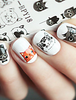 Недорогие -1 Животный дизайн Наклейка для ногтей Разноцветный Украшение для дизайна ногтей