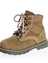 economico -Da ragazzo Scarpe Pelle Inverno Autunno Comoda Anfibi Stivaletti Footing Stivali metà polpaccio Lacci Per Casual Nero Cammello