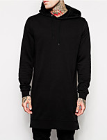cheap -Men's Daily Sports Vintage Casual Street chic Hoodie Solid Hooded Micro-elastic Cotton Long Sleeve Spring/Fall