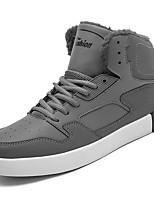 economico -Da uomo Scarpe Gomma Primavera Autunno Comoda Sneakers Footing Stivaletti/tronchetti Nastro per Nero Grigio