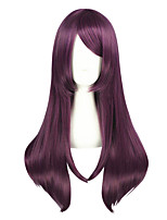 cheap -Women Synthetic Wig Medium Length Kinky Straight Purple Cosplay Wig Costume Wig