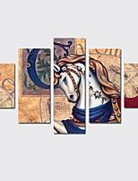 abordables -Impresión de lienzo Modern,Cinco Paneles Lienzos Estampado Decoración de pared Decoración hogareña